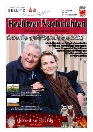 Beelitzer Nachrichten - November 2014
