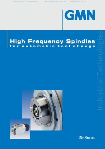 High frequency spindles for automatic tool change GMN - Industrial ...