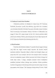 BAB IV HASIL DAN PEMBAHASAN 4.1 Gambaran Umum Lokasi ...