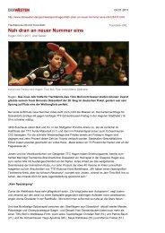 Tischtennis-Hit mit Timo Boll:: Nah dran an neuer ... - TTC Hagen
