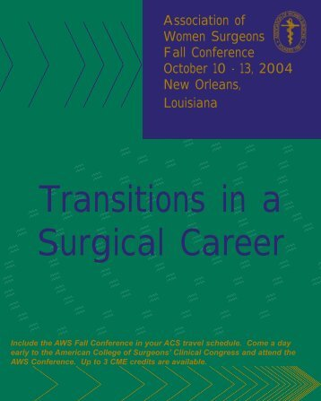 a brochure - Association of Women Surgeons
