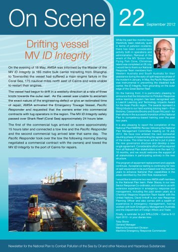 Drifting vessel MV ID Integrity - Australian Maritime Safety Authority