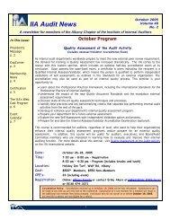 IIA Audit News - The Institute of Internal Auditors