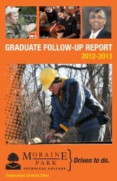 GRADUATE FOLLOW-UP REPORT - Moraine Park Technical College