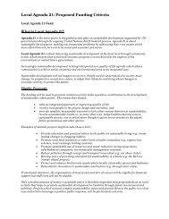Local Agenda 21: Proposed Funding Criteria - Cumbria County ...