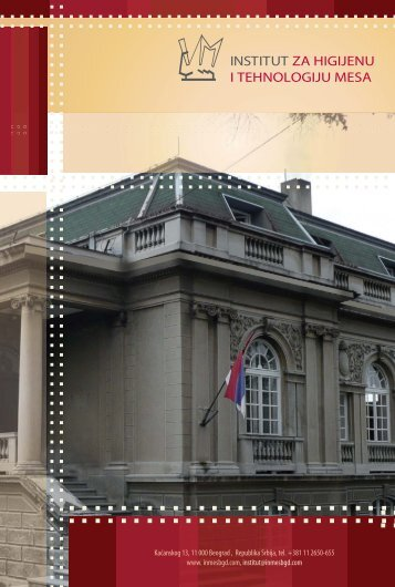 Preuzmite brošuru u pdf formatu - Institut za higijenu i tehnologiju ...