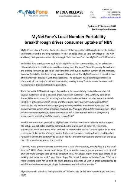 MyNetFone's Local Number Portability breakthrough drives