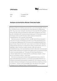 Analyse economische effecten financieel kader - Centraal Planbureau