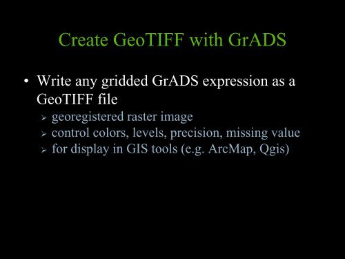 Create GeoTIFF with
