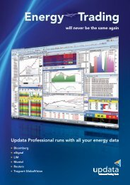 Energy Trading - Updata Technical Analyst