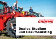 Duales Studium und Berufseinstieg - bei Grimme