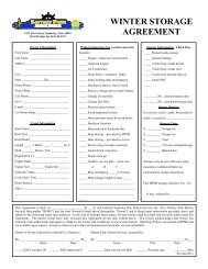 Printable Storage Agreement - Battery Park Marina