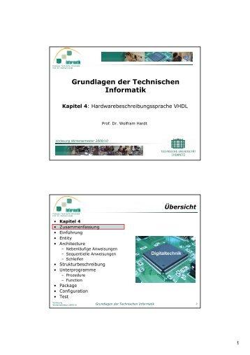 Grundlagen der Technischen Informatik - Professur Technische ...