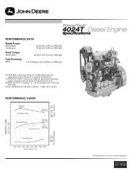 performance curve performance data - John Deere Industrial Engines