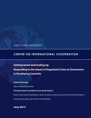 here - Center on International Cooperation - New York University