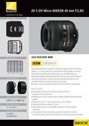 AF-S DX Micro NIKKOR 40 mm f/2,8G ZVĚDAVÝ JSEM - Nikon