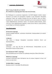 Freitag, 10. Mai 2013, ab 17.00 Uhr Wo - Langenegg
