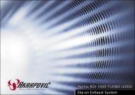 Aprilia RSV 1000 TUONO (2003) Slip-on Exhaust System