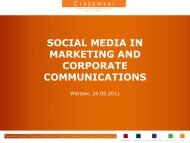Social Media in Marketing and Corporate Communications