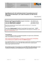 Spezifikationen zur Lautheitsanpassung - N24 Media GmbH
