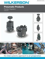 Catalog 604: Pneumatic Products - Wilkerson Corporation