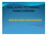 Coal Supply to TPPs-Issues and Challenges - NPTI