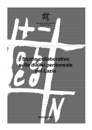 Studio collaborativo sulla dialisi peritoneale nel Lazio - Agenzia di ...