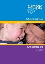 Annual Report - Playgroup Victoria