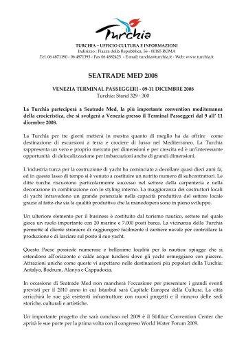 seatrade med 2008 - Ufficio Turismo Turco