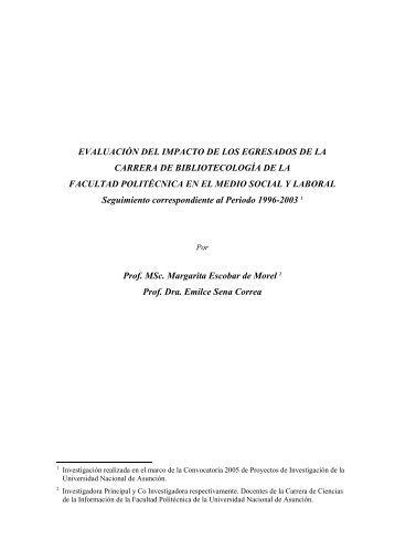 evaluación del impacto de los egresados de la carrera de ...