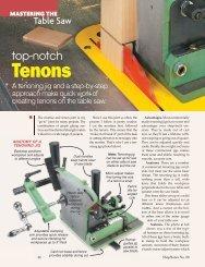 Top-notch Tenons - Woodsmith Woodworking Seminars