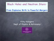 Black Holes and Neutron Stars: From Explosive Birth to Powerful ...