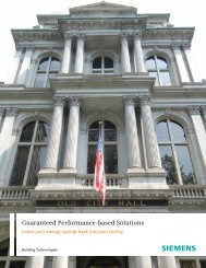 Federal Performance Based Solutions with Siemens