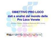 La fotografia delle PL Venete - UNPLI Veneto