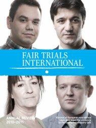 annual review 2010/11 - Fair Trials International