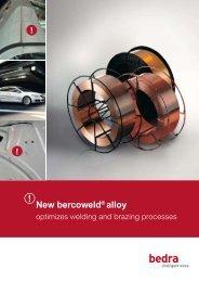 New bercoweld® alloy - Bedra