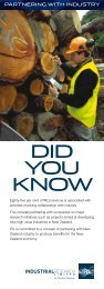DID YOU KNOW - Industrial Research Limited