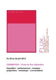 Programme 24-26 juin - Flux Laboratory