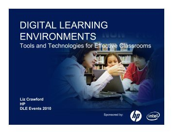 Presentation by Liz Crawford, HP - Digital Learning Environments
