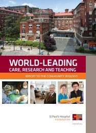 World-leading - St. Paul's Hospital Foundation