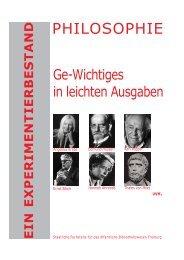 PHILOSOPHIE - Regierungspräsidium Freiburg Fachstelle für das ...