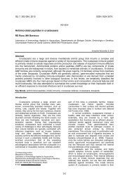 Antimicrobial peptides in crustaceans - Invertebrate Survival Journal