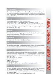 Veranstaltungsorganisation 2014 - Regierungspräsidium Freiburg ...