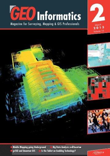Big Data Analysis and Location - Geoinformatics