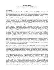 SELETUSKIRI Eesti keskkonnategevuskava 2007-2013 juurde ...