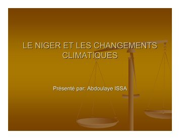 LE NIGER ET LES CHANGEMENTS CLIMATIQUES - UNDPCC.org