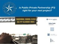 Is Public-Private Partnership (P3) right for your ... - Alamo Colleges