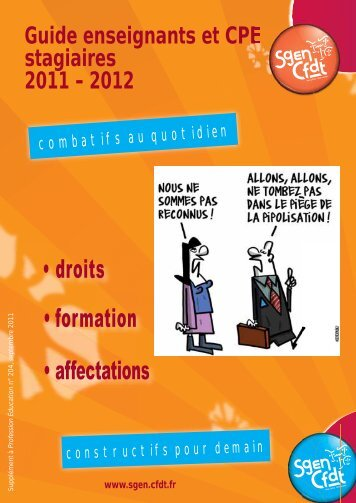 Enseignants et CPE stagiaires - CFDT