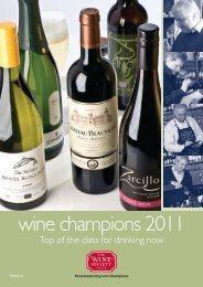 wine champions 2011 - The Wine Society