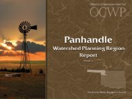 Panhandle - Water Resources Board - State of Oklahoma